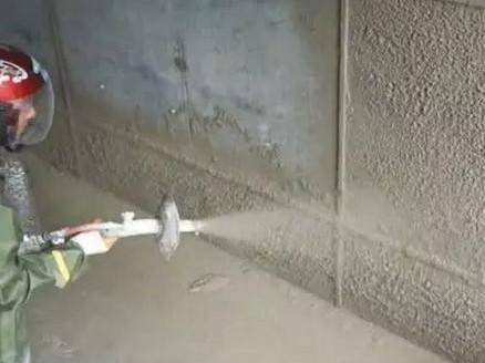 机械喷涂抹灰施工准备工作