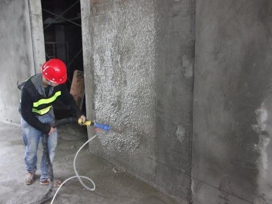 喷涂墙面抹灰施工技术